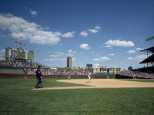 Baseball game at historic Wrigley Field.