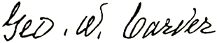 Carver's signature