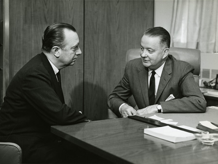 Walter Cronkite and Howard Rusk.