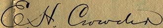 Crowder signature