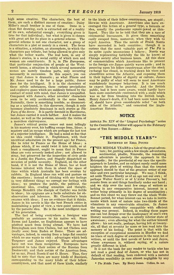 The Egoist, Page 2