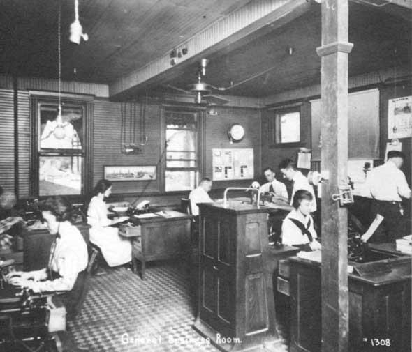 A. P. Green Fire Brick Company interior office