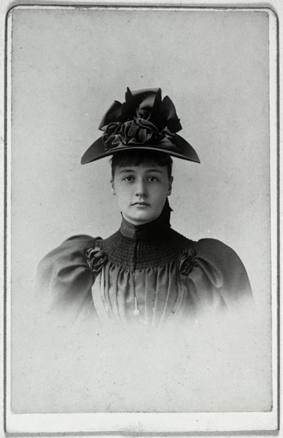Lucy Wortham James as a young woman