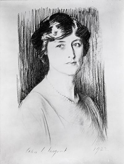 Lucy Wortham James, 1922.