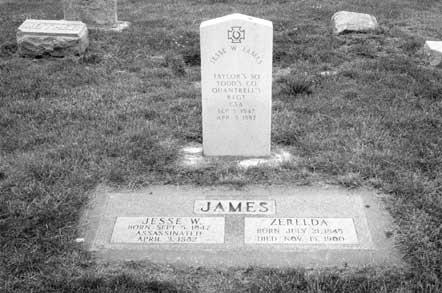 Headstone of Jesse and Zerelda Mimms James