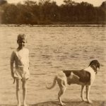 Charles Lindbergh and his dog