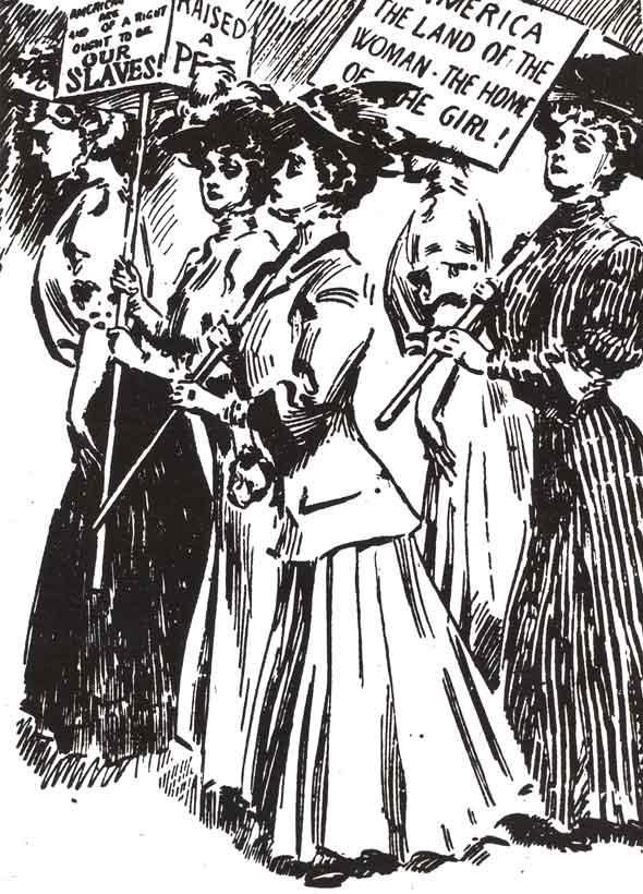 The suffragist cause.