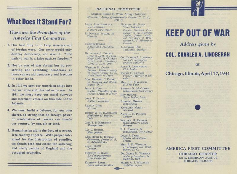 antiwar brochure