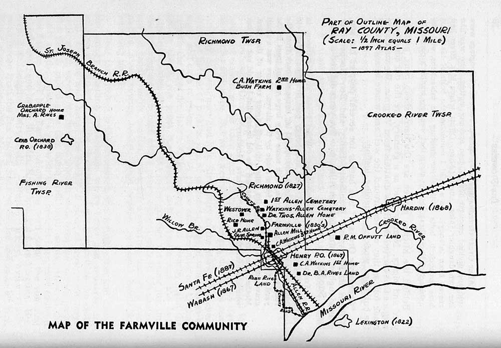 Line map of Ray County
