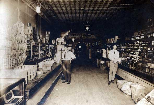 Dry goods store, ca. 1900