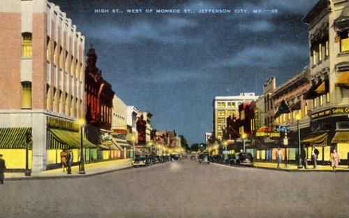 Postcard showing J.C. Penney in Jefferson City