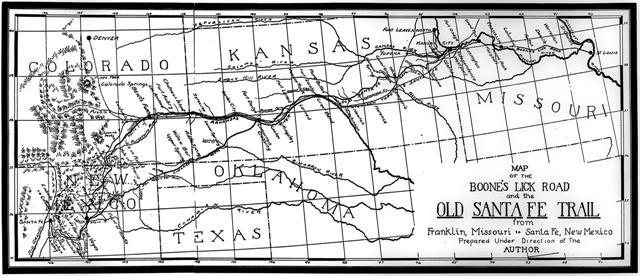 Santa Fe Trail map