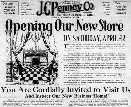 J. C. Penney advertisement