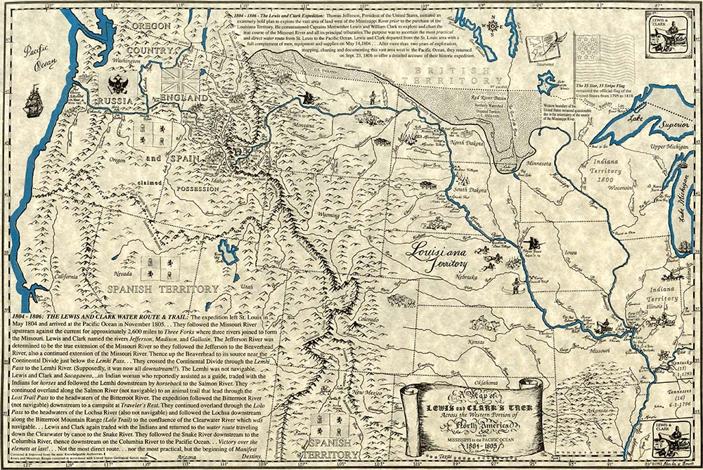 The Lewis and Clark Trail.
