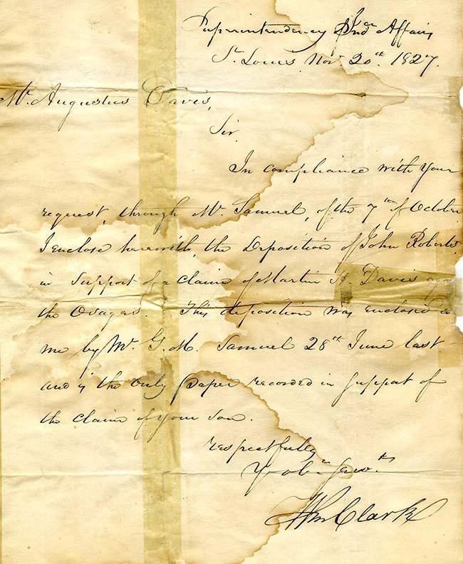 William Clark letter