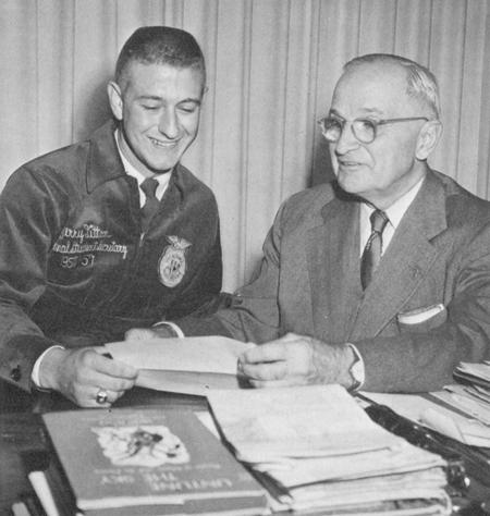 Jerry Litton and President Truman