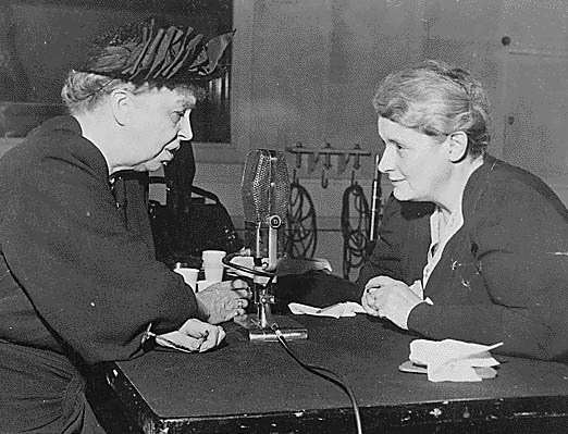 McBride interviewing Eleanor Roosevelt