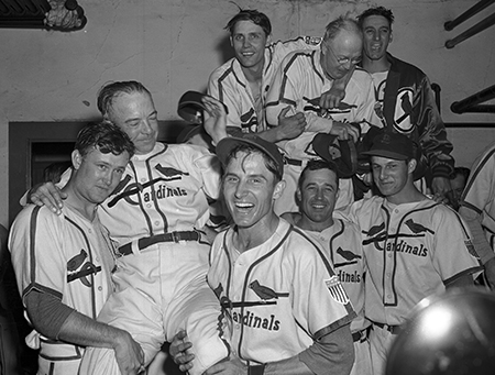 Stan Musial and teammates