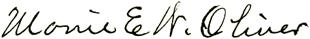 Oliver signature