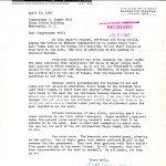C. A. Franklin Letter, 1943.