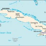 Cuba with San Juan Hill marked