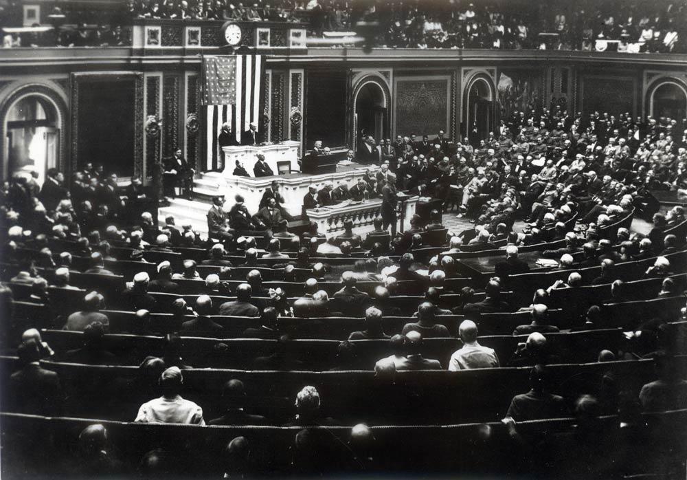 General Pershing responding to Congress