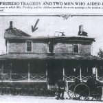 Pershing's burned house