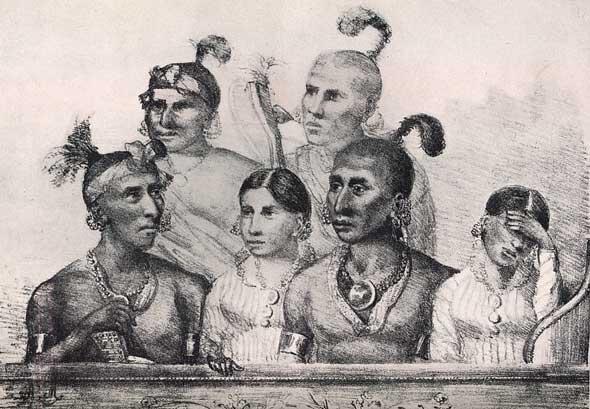 six Osage attending the opera