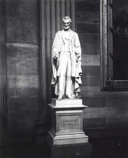 Vinnie Ream's completed statue of President Abraham Lincoln