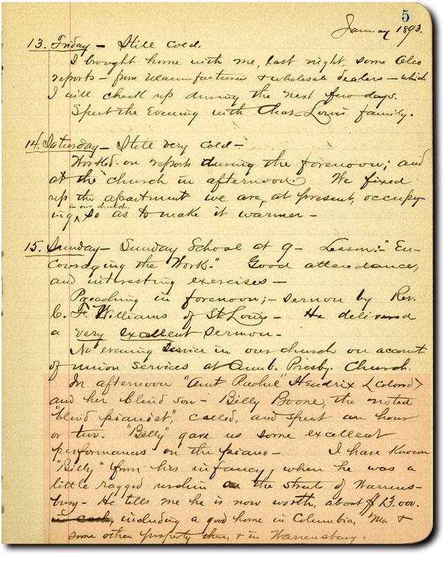 Henry Fike Diary