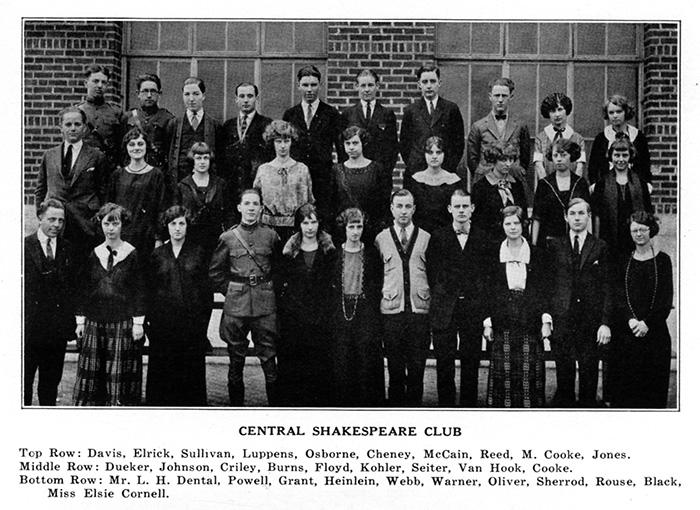 Central High School Shakespeare Club