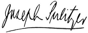 Pulitzer's signature