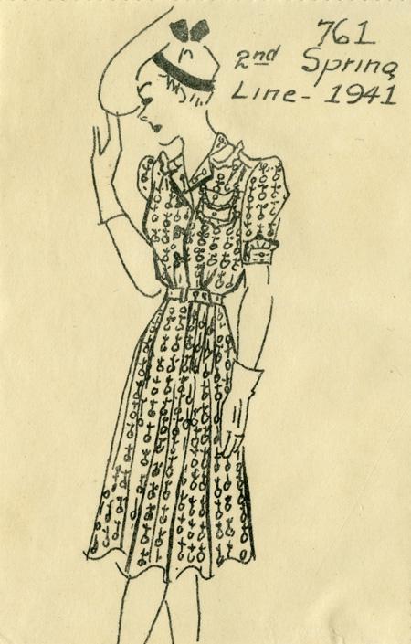 Spring 1941 Reed dress design