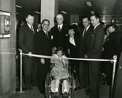 Ribbon cutting at Rusk Institute