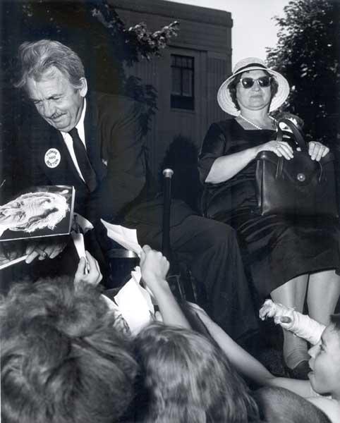Benton with his wife, Rita