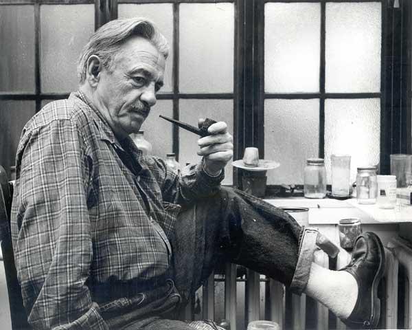 Benton in his Kansas City studio