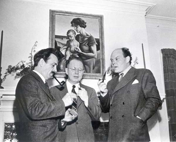 Benton with Grant Wood and John Steuart Curry
