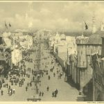 The Pike, looking east, at the 1904 World's Fair in St. Louis.
