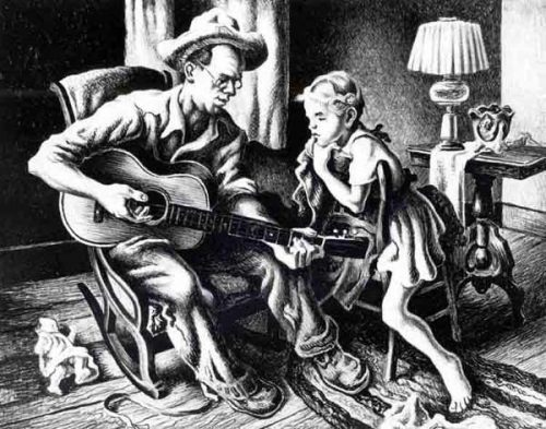 The Music Lesson by Benton