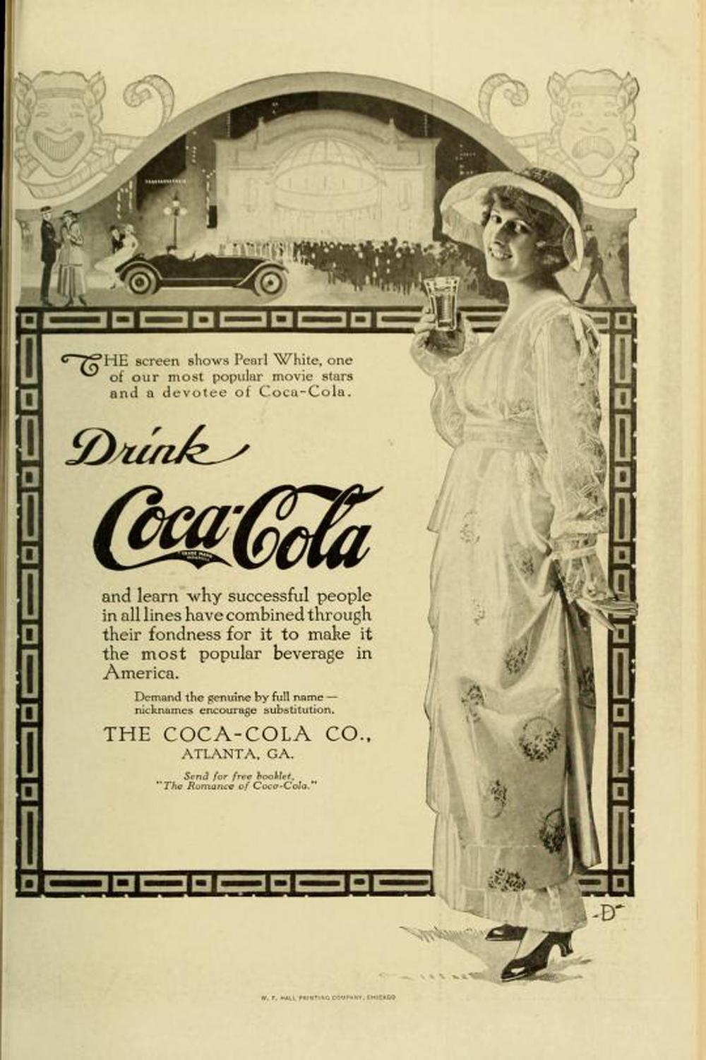 Pearl White Coke Ad