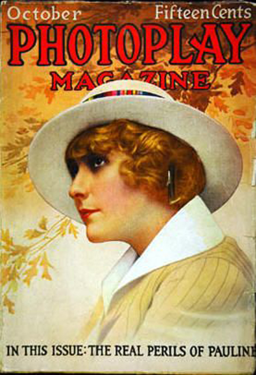 Pearl White on the cover of Photoplay Magazine