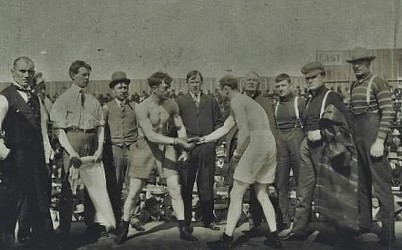 1908 fight of Ketchel and Sullivan