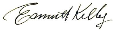 Kelly's signature
