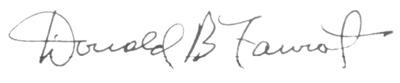 Don Faurot signature