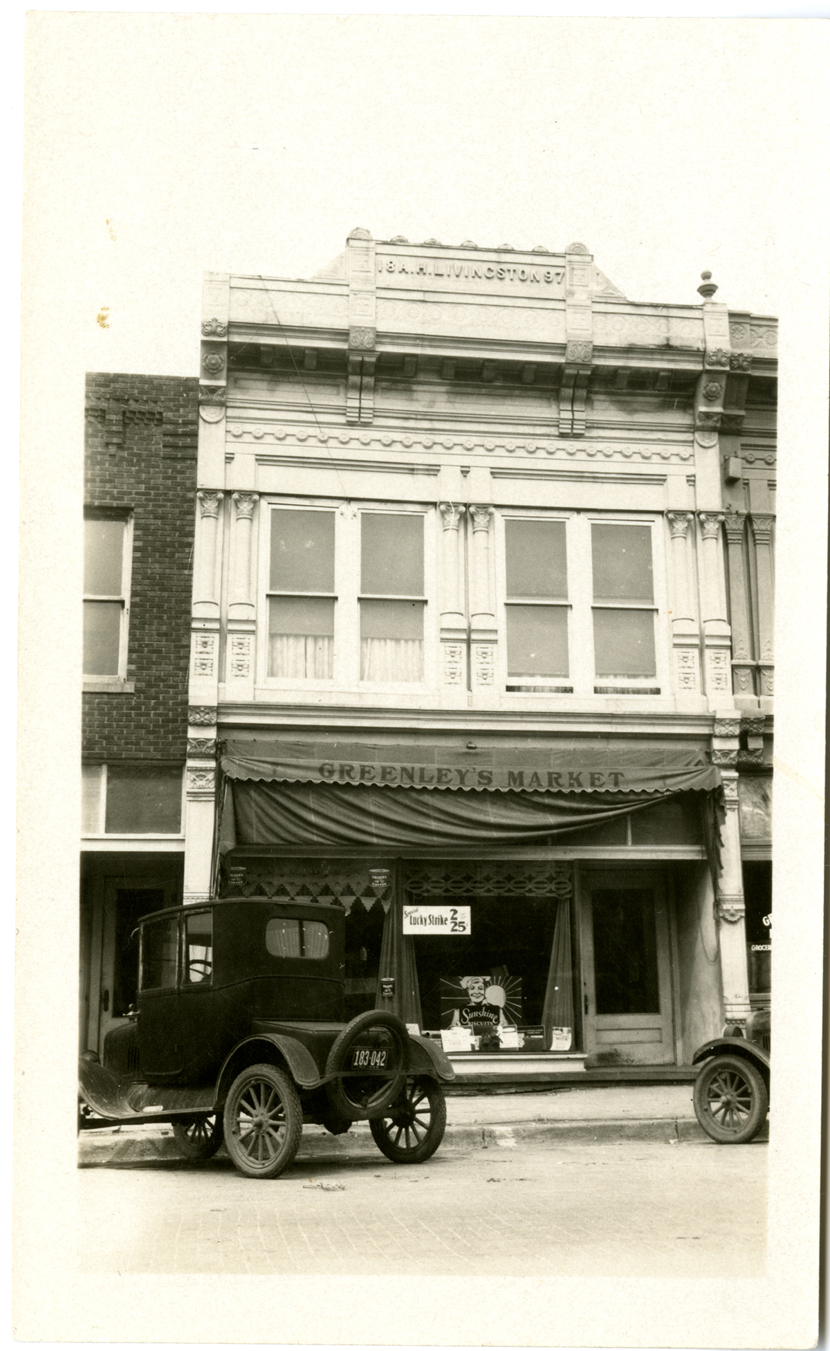 The building where Sara's father had a store in Rock Port, Missouri. The family lived upstairs
