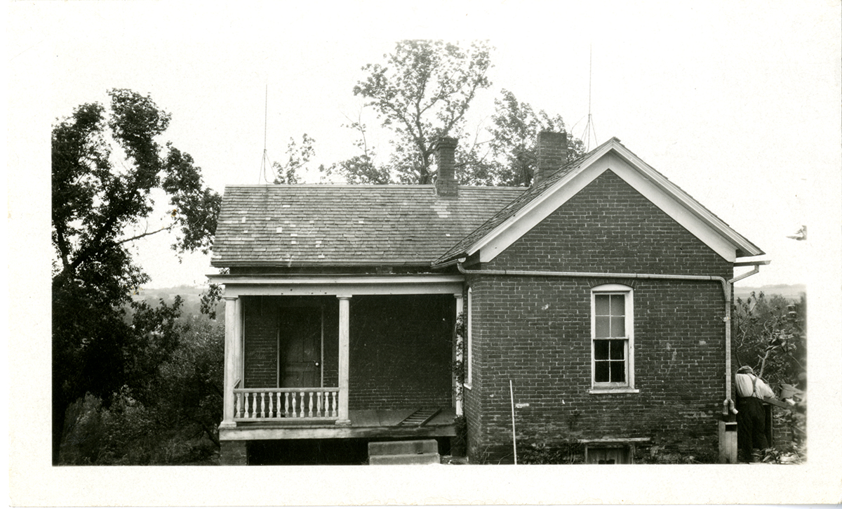 The house in which Sara and her brother Charles were born in Rock Port, Missouri