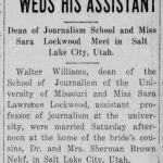 The wedding of Walter Williams and Sara Lockwood was announced in the newspaper in October 1927.